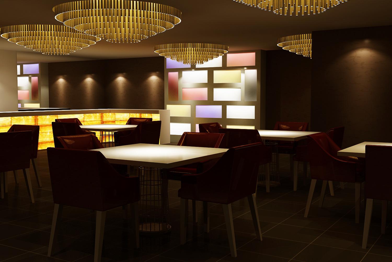 Realistic Bar Interior 3D model