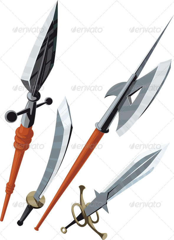 Set of Weapons - Man-made Objects Objects