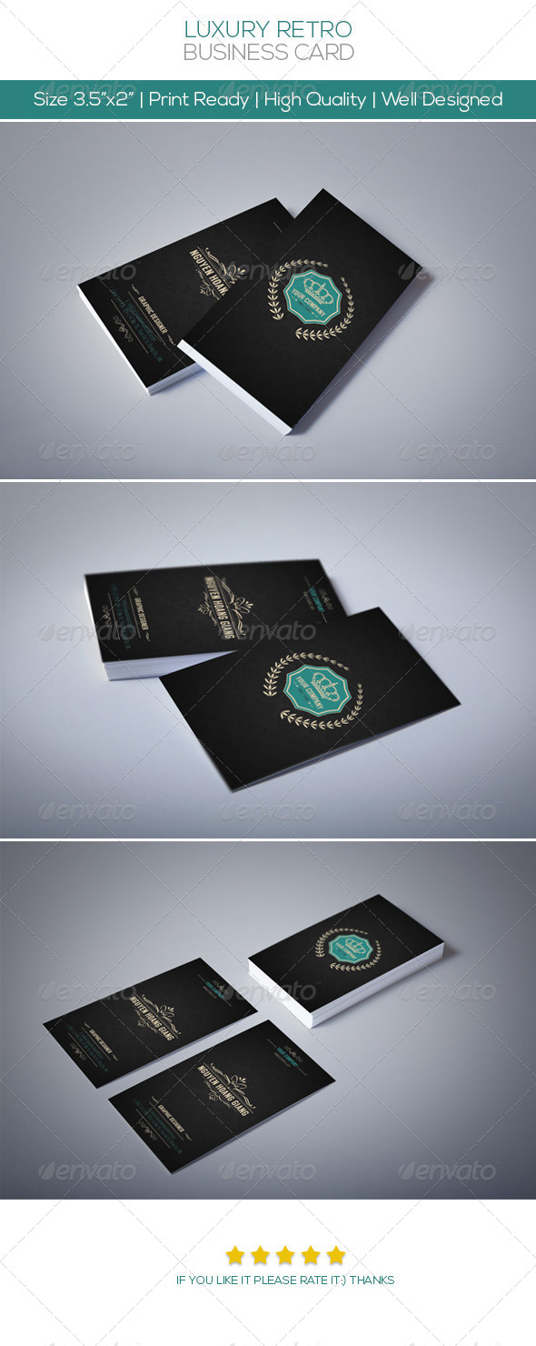 Luxury Retro Business Card - Creative Business Cards