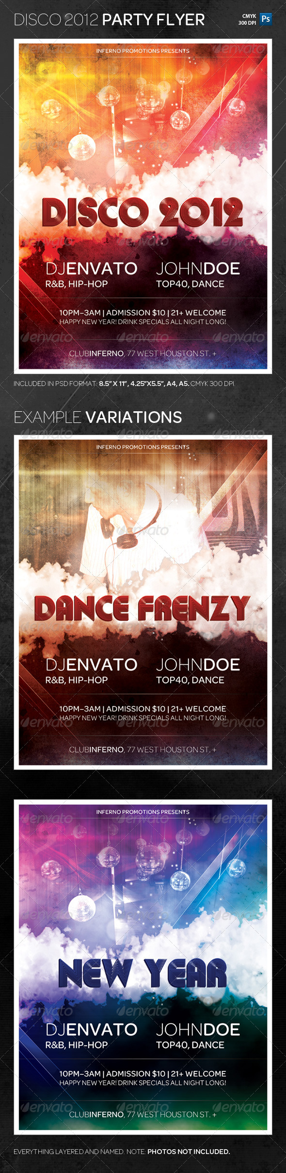 Disco 2012 Dance Party Flyer Template - Clubs & Parties Events