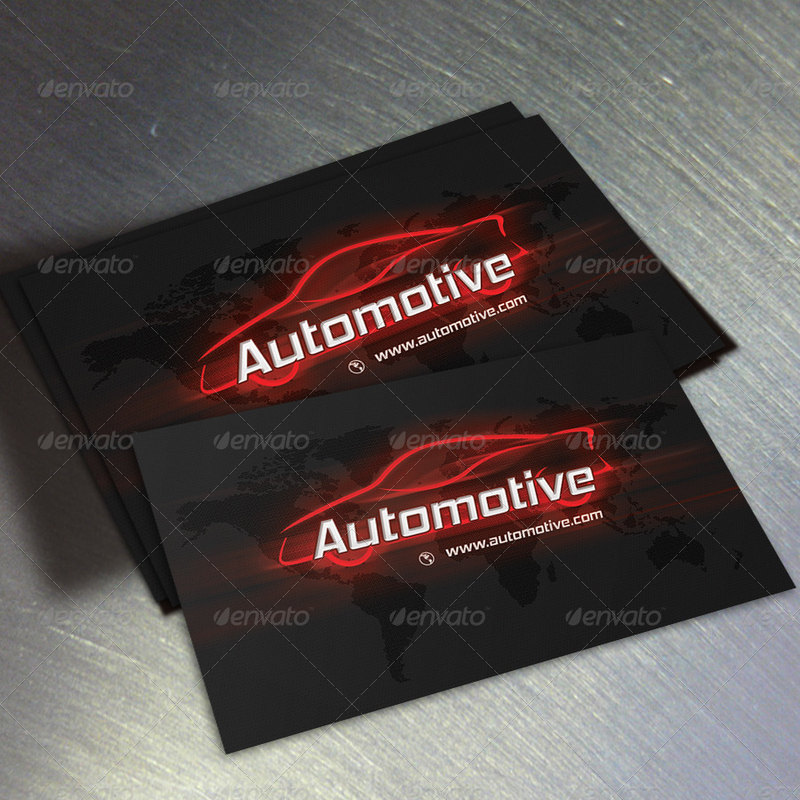 Automotive Business Card by oksrider | GraphicRiver