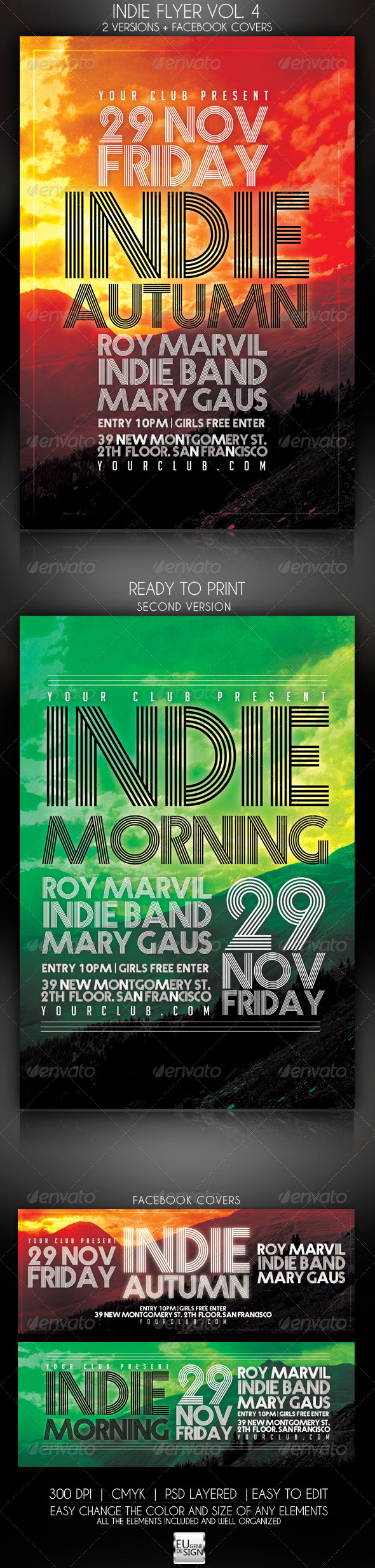 Indie Flyer Vol. 4 - Clubs & Parties Events