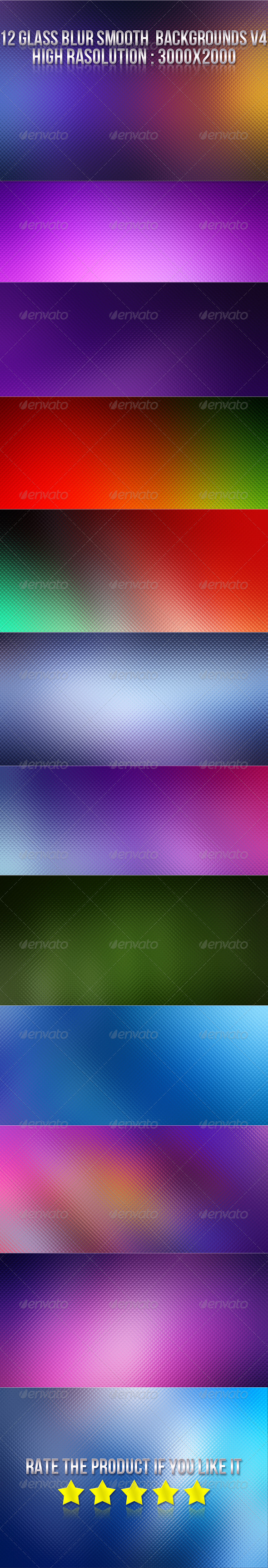 12 Glass Blur Backgrounds V4 - Backgrounds Graphics