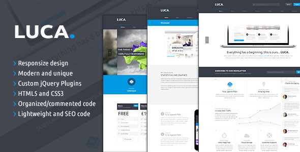 LUCA - Responsive HTML5 Template - Creative Site Templates