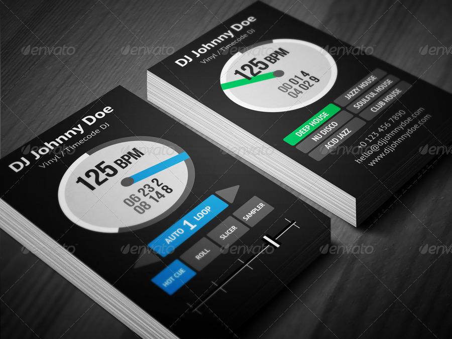 Digital Vinyl DJ Business Card by vinyljunkie   GraphicRiver