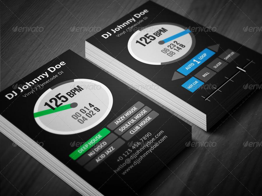 Digital Vinyl DJ Business Card by vinyljunkie | GraphicRiver