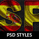Flag Themed Photoshop Text Layer Styles - V1 - GraphicRiver Item for Sale