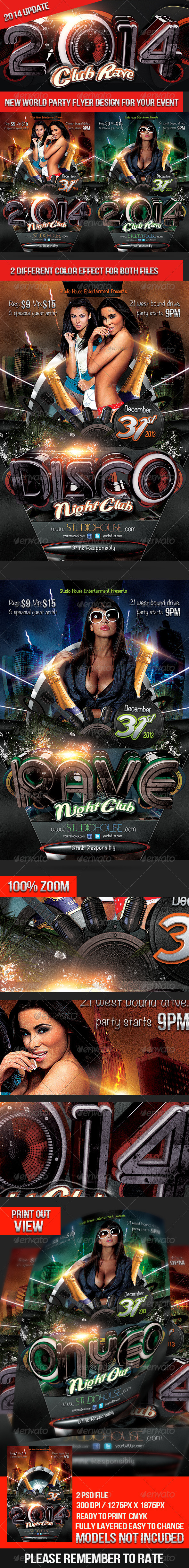2014 Club Rave - Clubs & Parties Events