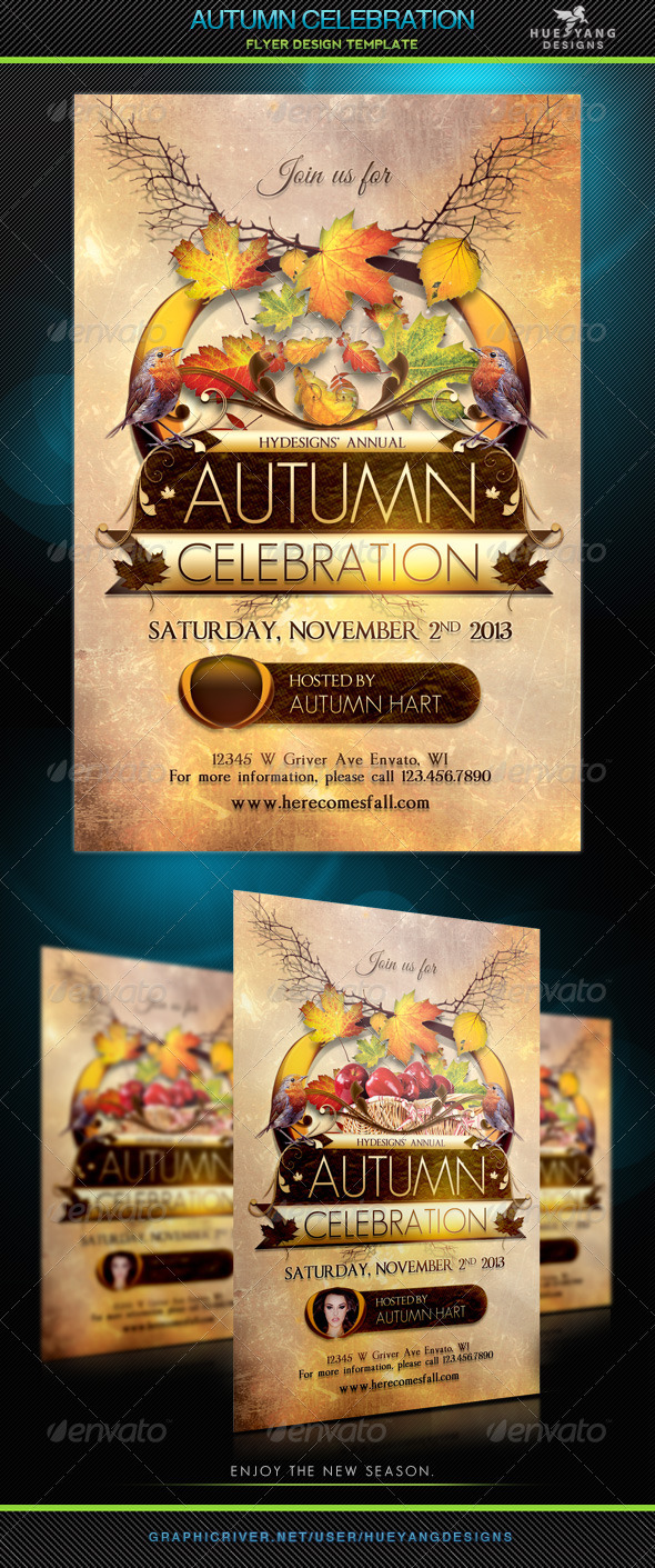 Autumn Celebration Flyer - Holidays Events
