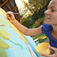 Woman Paints Landscape - VideoHive Item for Sale