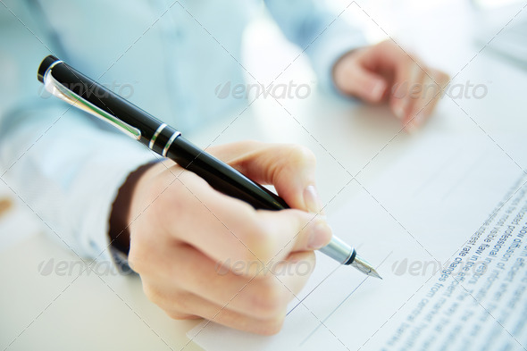 About to sign - Stock Photo - Images