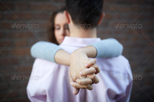 Tight embrace - Stock Photo - Images