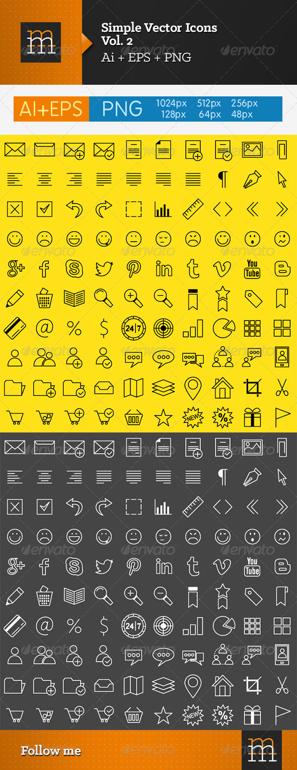 Simple Vector Icons - Vol. 2 - Software Icons