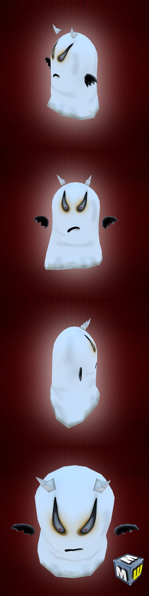Ghost_Low Poly Character MAX 2011 - 3DOcean Item for Sale