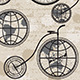 Retro Bicycle, Globe and Compass - GraphicRiver Item for Sale