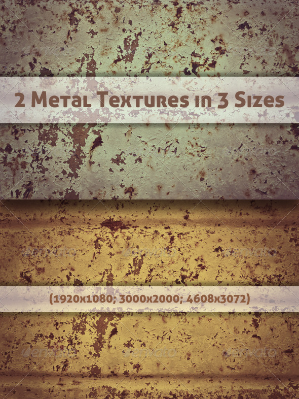 2 Metal Textures in 3 Sizes - Metal Textures