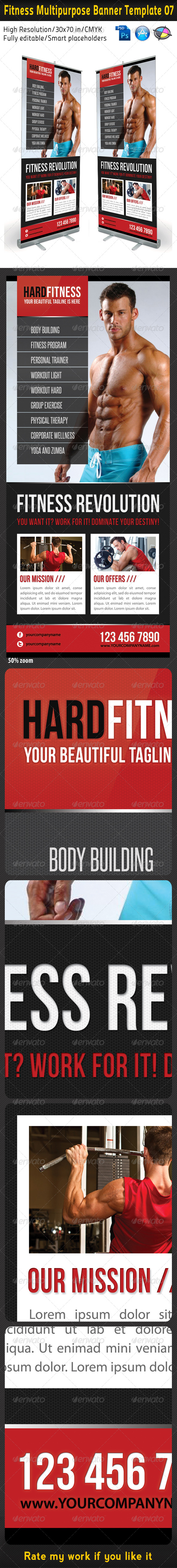 Fitness Multipurpose Banner Template 07 - Signage Print Templates