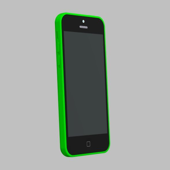 Apple iphone 5c cad model - 3DOcean Item for Sale