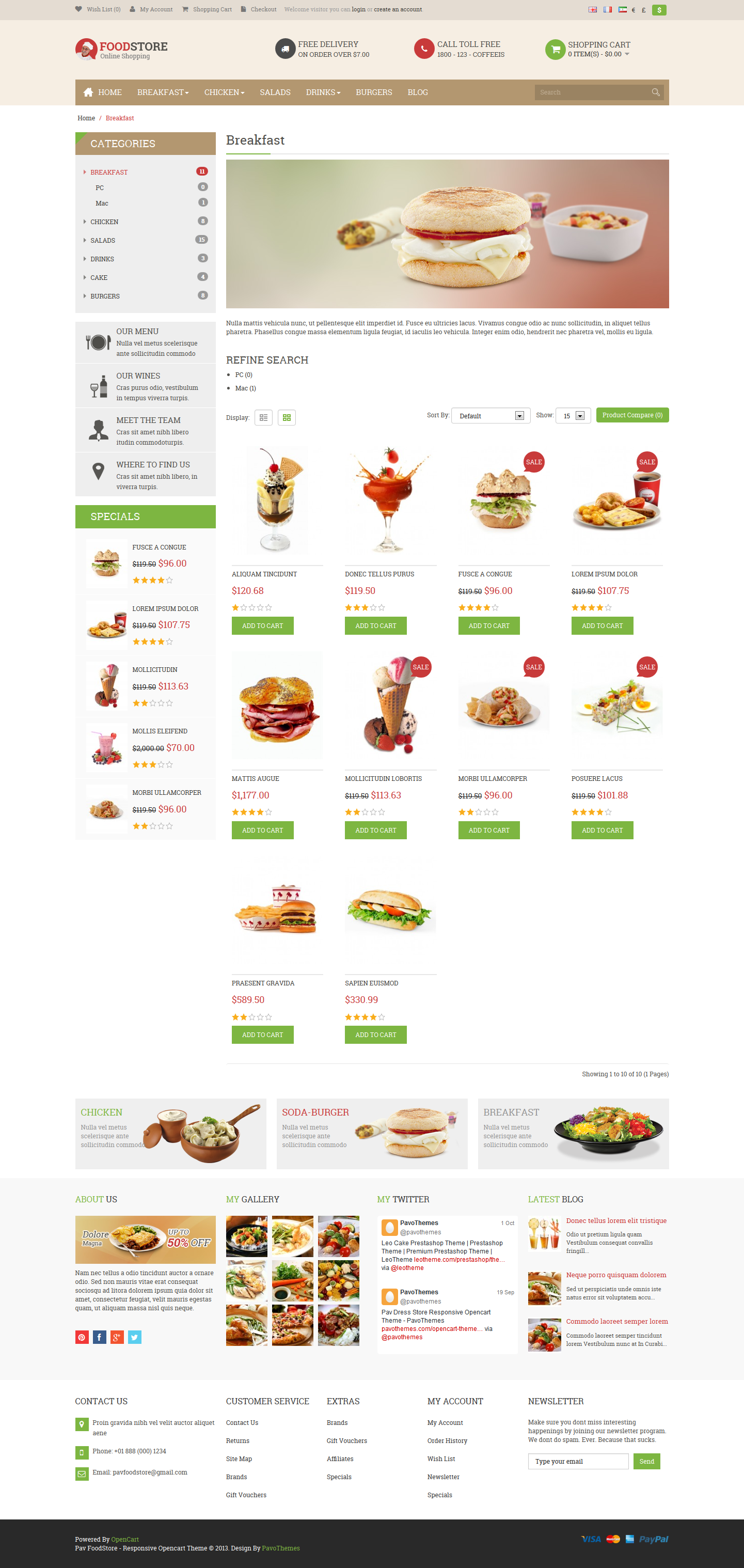 Pav Food Store Responsive Opencart Theme By Pavothemes