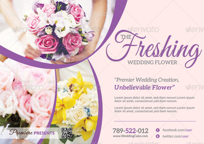 Wedding Flower Supplier Flyer by katzeline | GraphicRiver