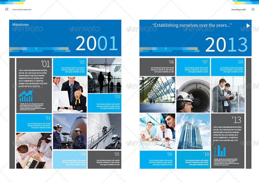 Captivating ... Set Spread/07_Annual Report Template Vol.2 ... To Annual Report Template Design