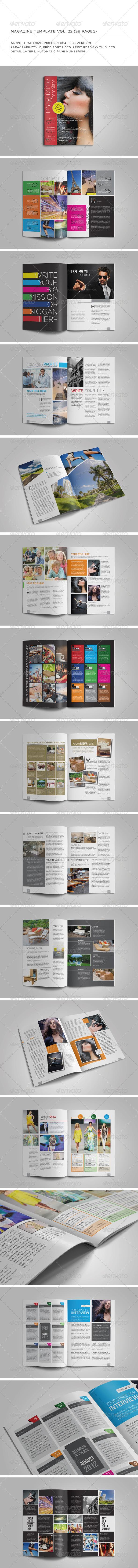 A5 Portrait 28 Pages MGZ (Vol. 22) - Magazines Print Templates