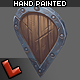 Low poly hand painted shield [Militia 02] - 3DOcean Item for Sale