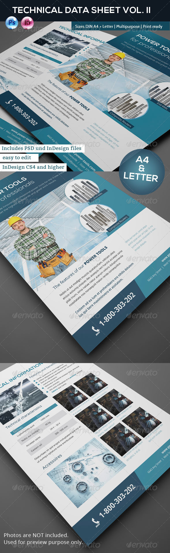 Technical Data or Product Sheet Vol. II - Corporate Flyers