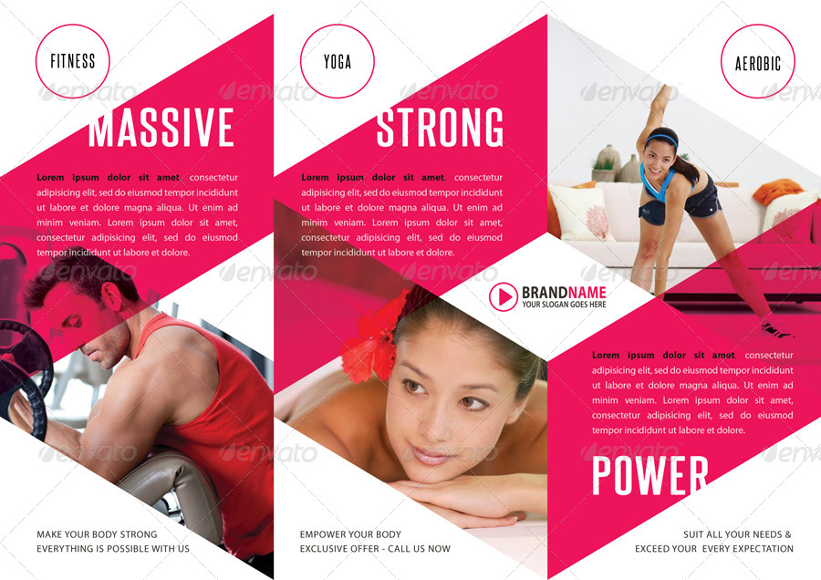 Fitness Fold Brochure  By Rapidgraf  Graphicriver