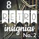 8 Retro Insignias - Collection 2 - GraphicRiver Item for Sale