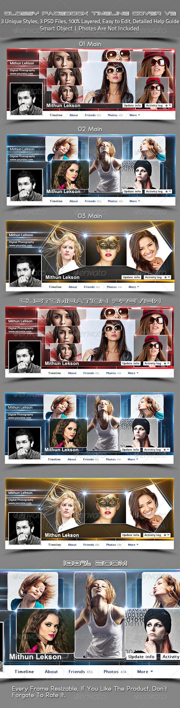 Glossy Facebook Timeline Cover V2 - Facebook Timeline Covers Social Media