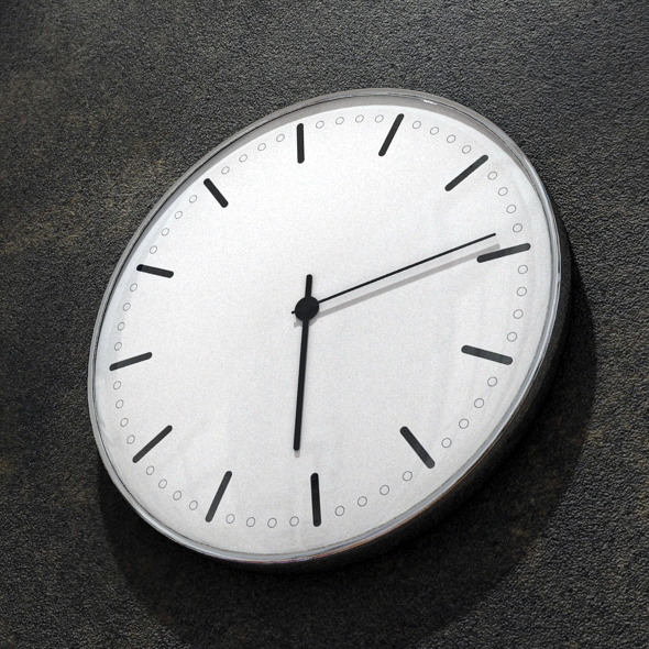 Modern Wall Clock - 3DOcean Item for Sale
