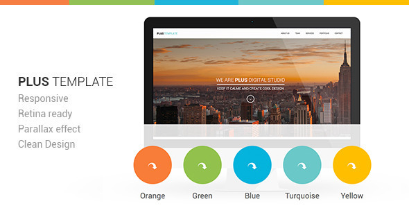Plus Responsive Retina Ready One-Page Template - Creative Site Templates