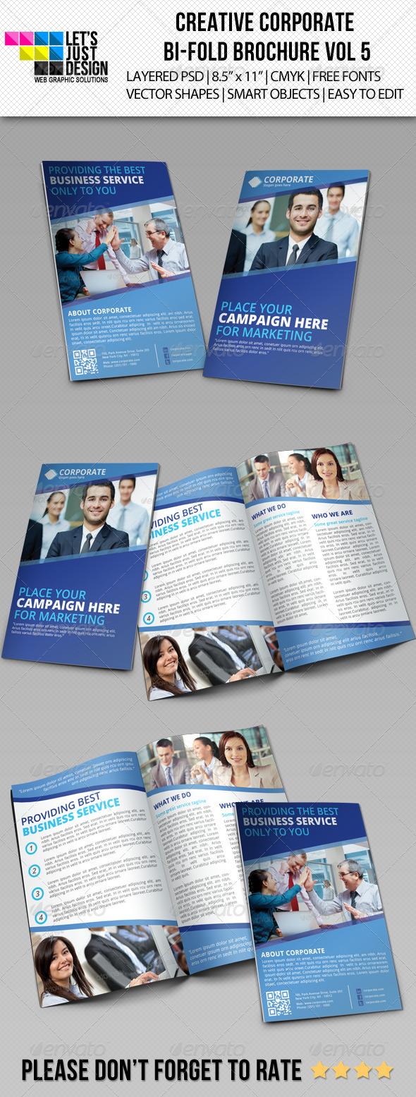Creative Corporate Bi-Fold Brochure Vol 5 - Brochures Print Templates