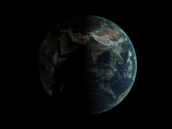 Realistic Earth Globe - 3DOcean Item for Sale