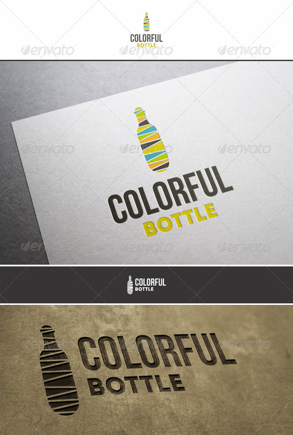 Colorful Bottle Logo - Objects Logo Templates