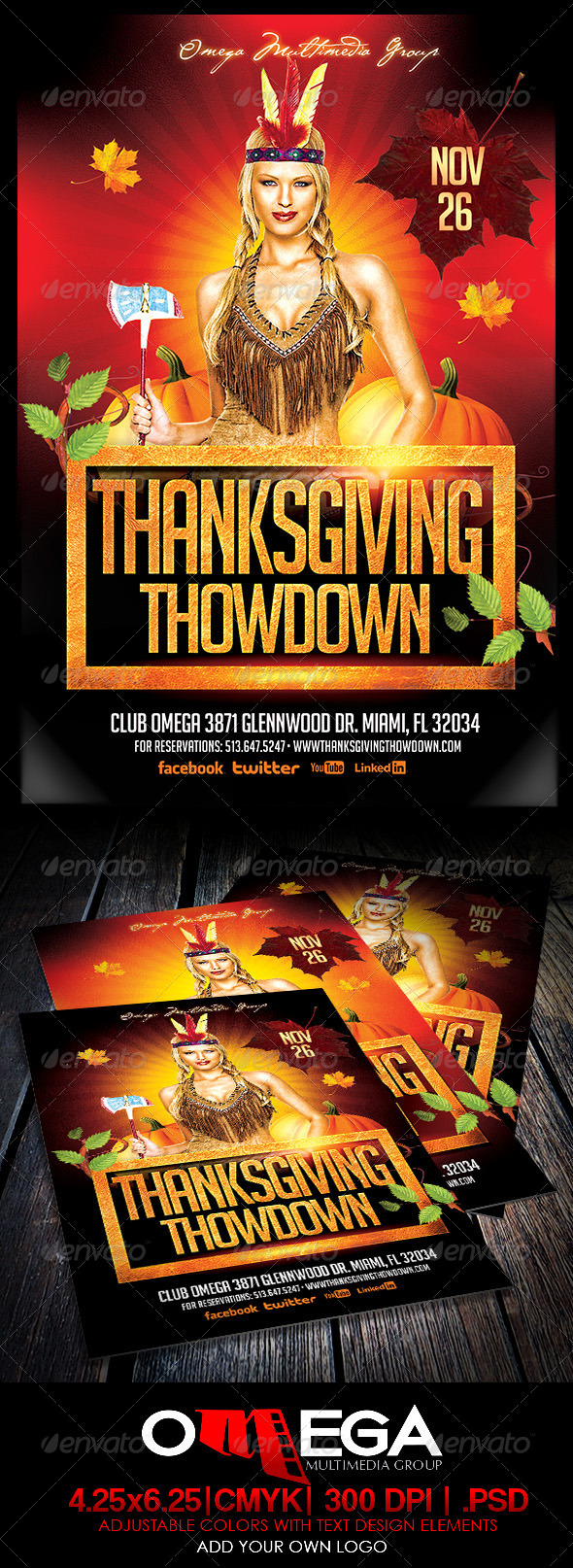 Thanksgiving Thodown - Events Flyers