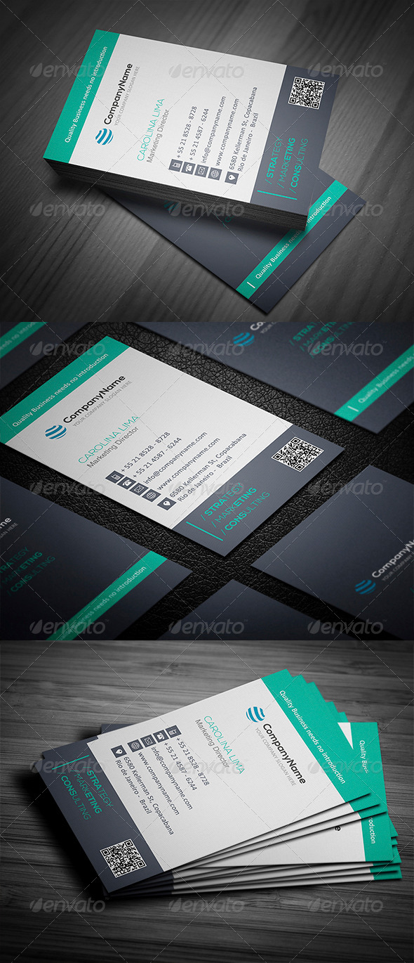 Clean Business Card Vol. 01 - Corporate Business Cards
