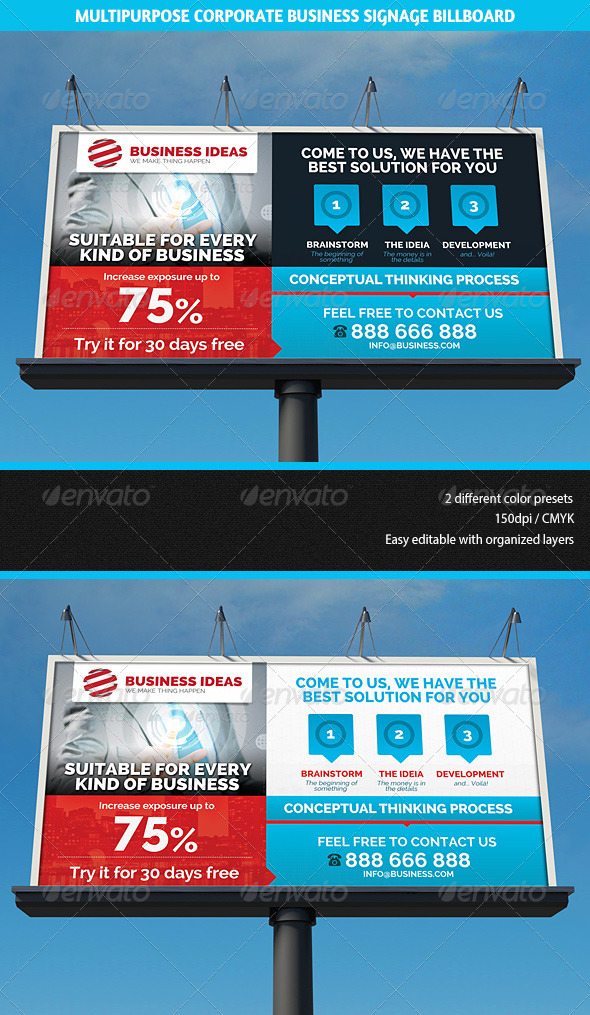 Multipurpose Corporate Business Signage Billboard - Signage Print Templates