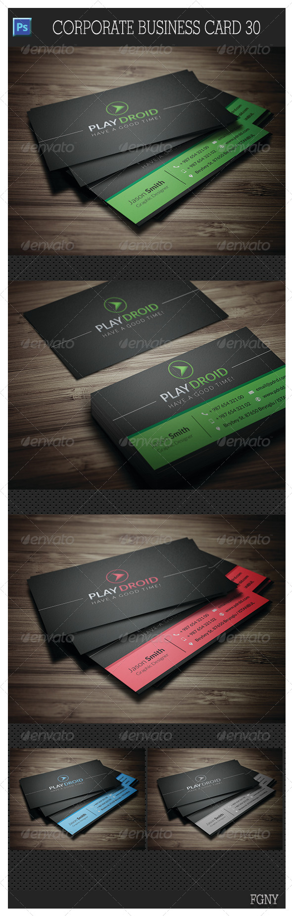 Corporate Business Card 30 - Corporate Business Cards