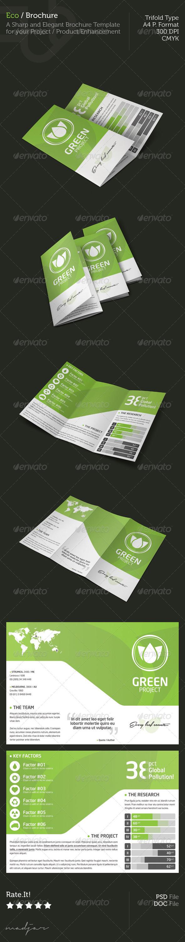Eco - Trifold Brochure - Brochures Print Templates