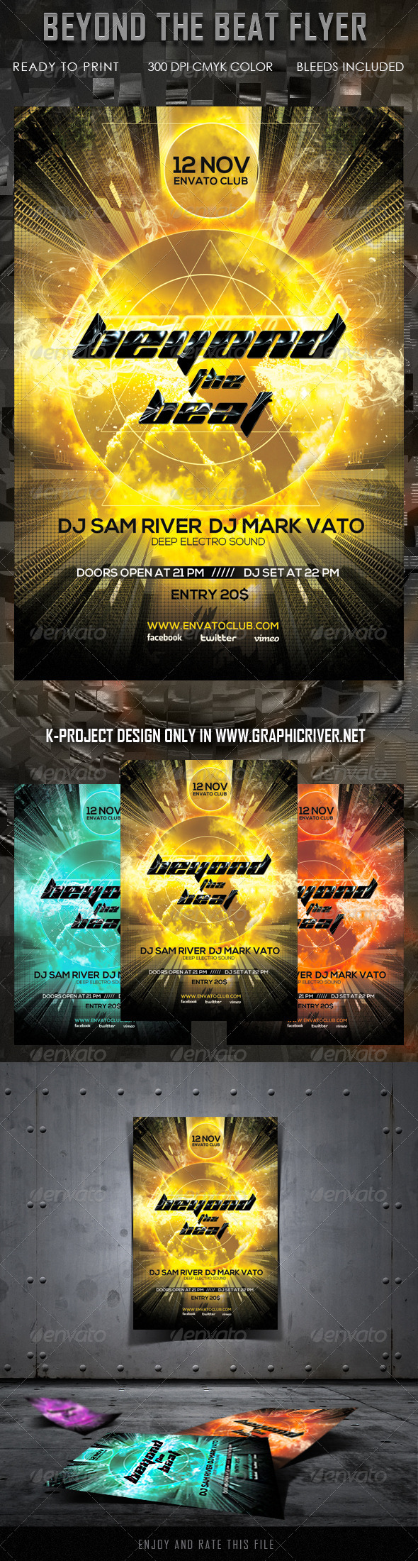 Beyond The Beat Flyer - Clubs & Parties Events