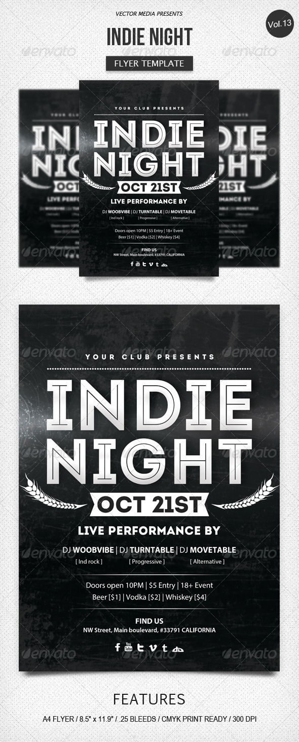 Indie Night - Flyer [Vol.13] - Clubs & Parties Events