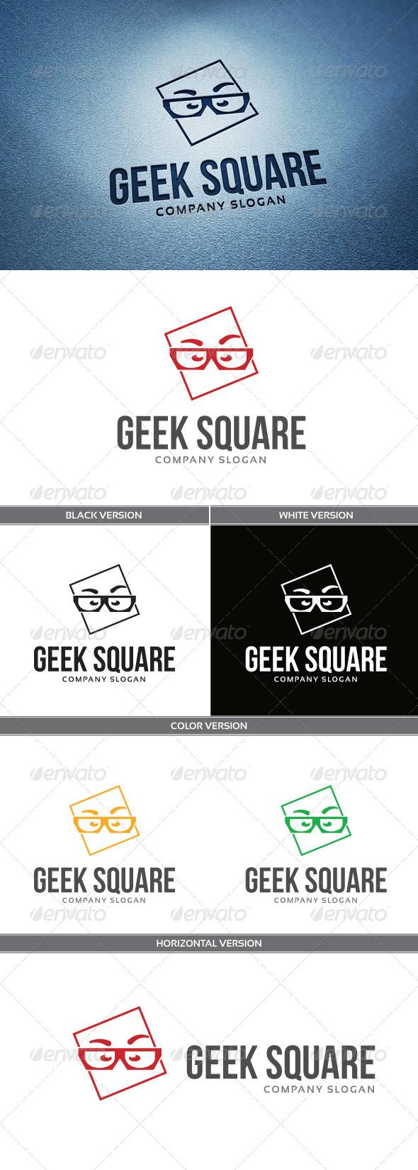 Geek Square Logo - Humans Logo Templates