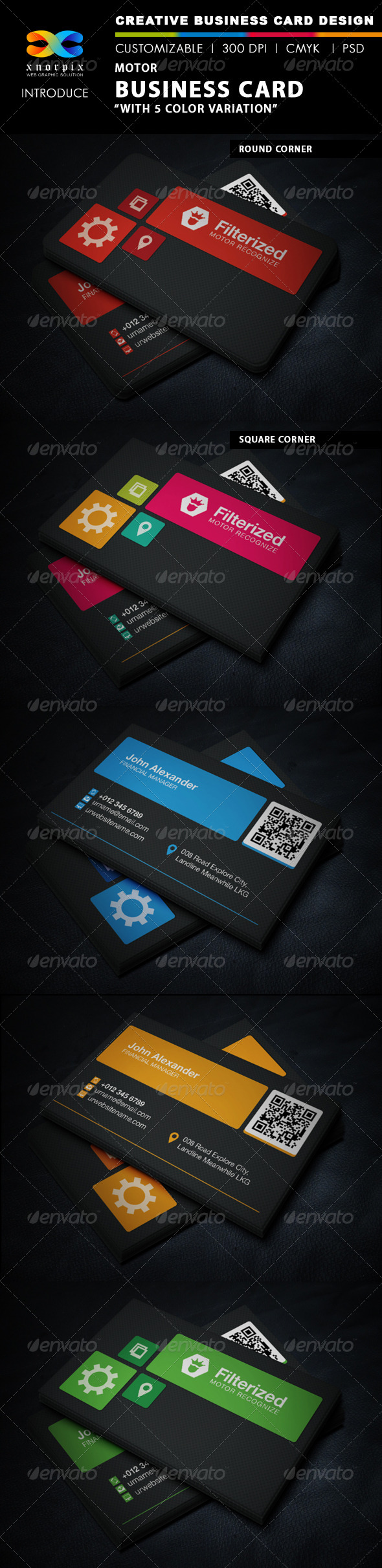 Motor Business Card - Corporate Business Cards