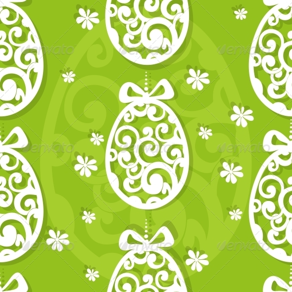 Easter Egg Openwork Appliques Seamless Background - Religion Conceptual