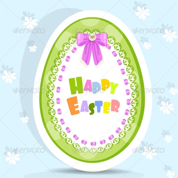 Easter Egg-Laced Postcard - Religion Conceptual