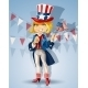 Blond Girl in Suit of Uncle Sam - GraphicRiver Item for Sale