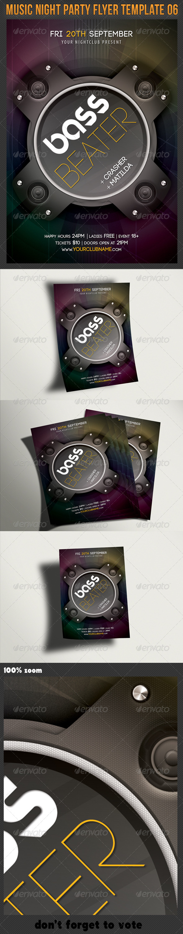 Music Night Party Flyer Template 06 - Clubs & Parties Events