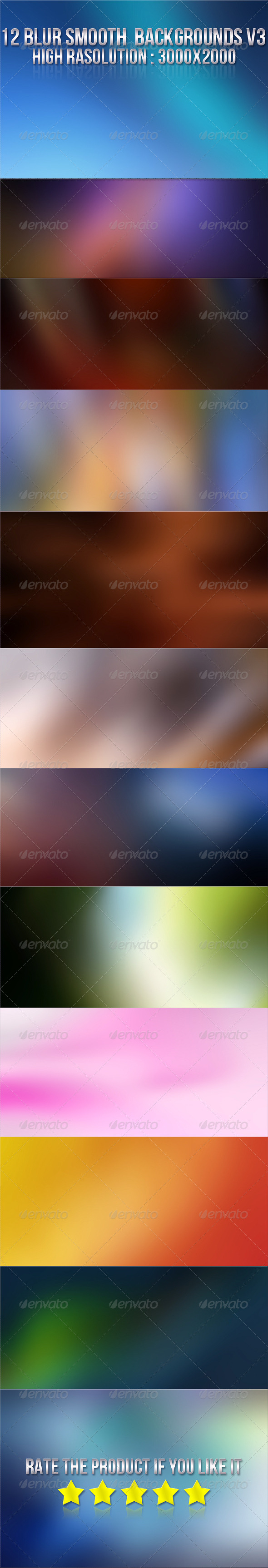 12 Smooth Blur Backgrounds V3 - Backgrounds Graphics